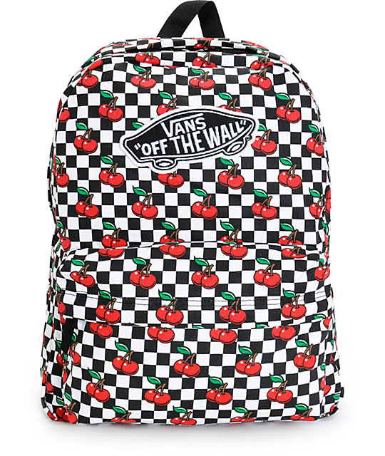 bc633abef1 Vans Realm Cherry Checkers Backpack
