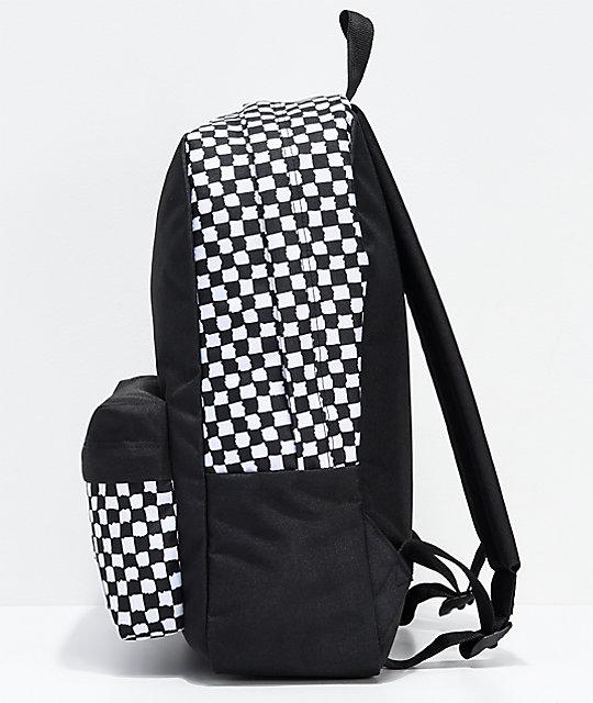 vans backpack checkerboard