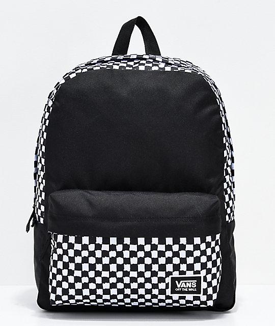 mochila vans con cuadros