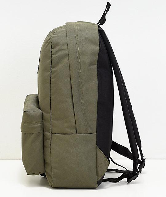 Vans Realm Grape Leaf Green Backpack | Zumiez