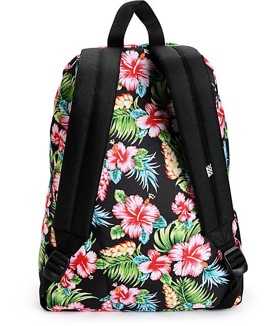 9cbeb7773c Vans Realm Hawaiian Black Backpack  Vans Realm Hawaiian Black Backpack ...