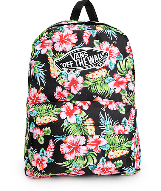 2978c44aa2 Vans Realm Hawaiian Black Backpack