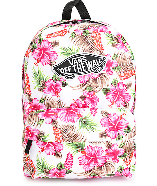 08b46a57fb Vans Realm Hawaiian Natural Backpack