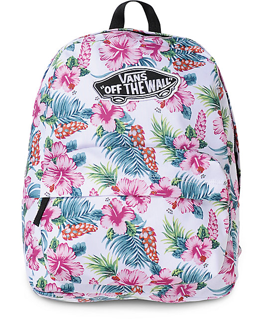 e30fa148cf Vans Realm Hawaiian White Backpack