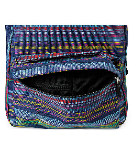 Vans Realm Multi Stripe Dewberry Backpack