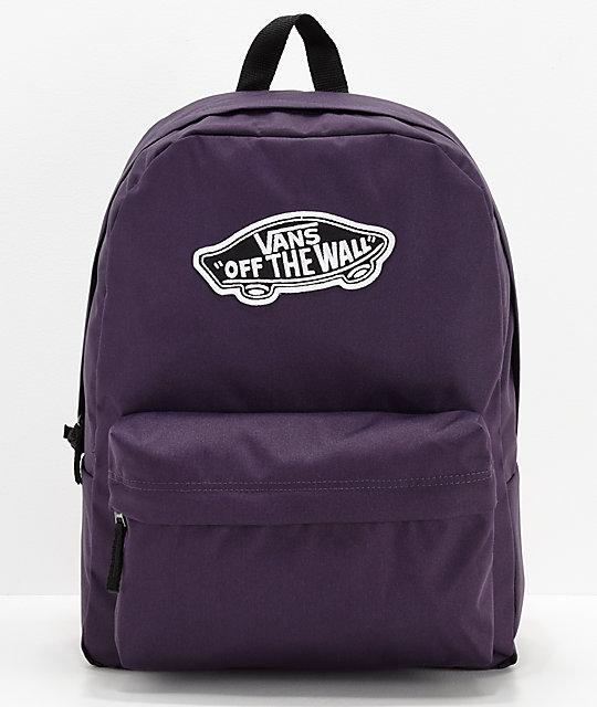 f765e53395 Vans Realm Mysterioso Purple Backpack | Zumiez