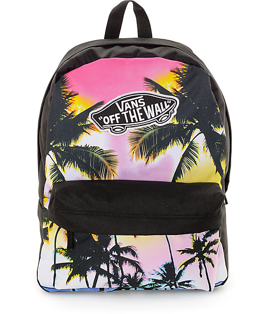 73993c0bfdfd Vans Realm Palm Photo Black   Multi Backpack