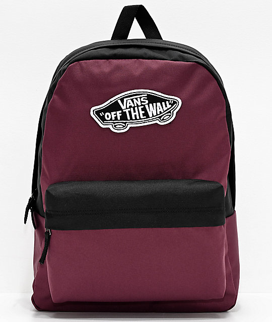Vans Realm Prune & Black Backpack