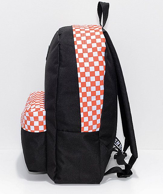 Vans Realm Sporty Orange Checker 22L Backpack