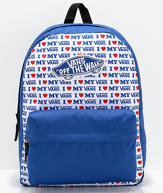 a09bf11cb2 Vans Realm Vans Love Blue Backpack