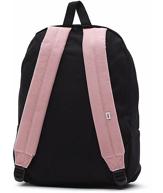 ac0109cdd8 ... Vans Realm Zephyr   Black 22L Backpack ...