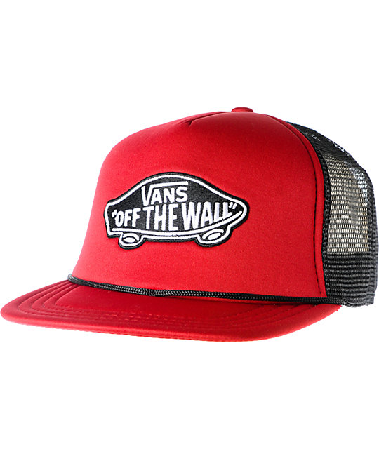 Vans Red & Black Classic Patch Snapback Trucker Hat