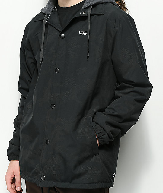 6e9c1abfedb Vans Riley Black Reflective Hooded Coaches Jacket | Zumiez.ca