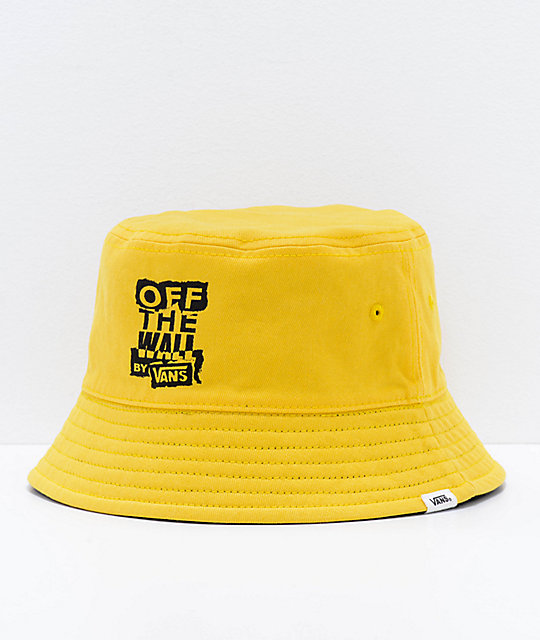 Vans Ripped OTW Black   Lemon Reversible Bucket Hat  8704846d322