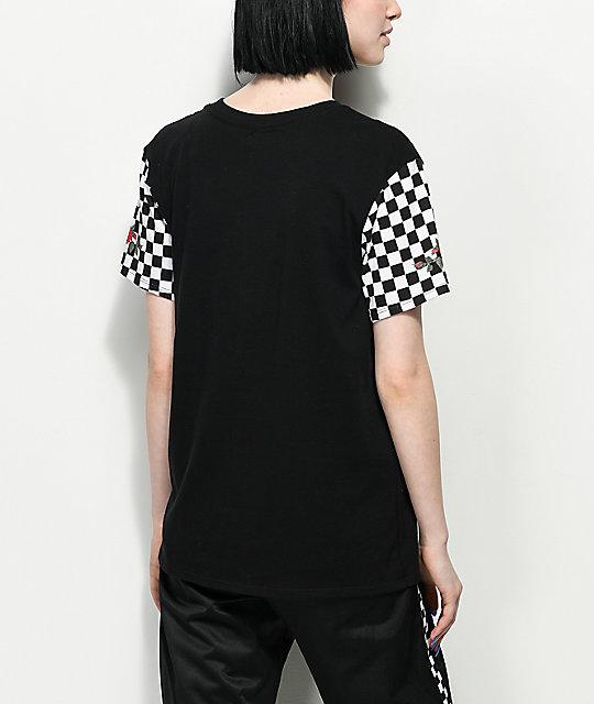 104e64238b ... Vans Rose   Checker T-Shirt