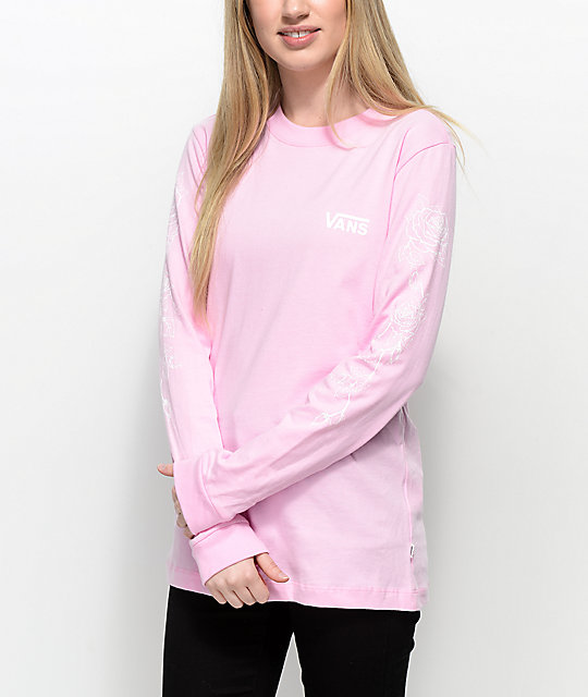 e9fe41039a Vans Rose Pink Long Sleeve T-Shirt