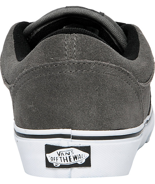 Vans Rowley 99 Pewter Suede Skate Shoes