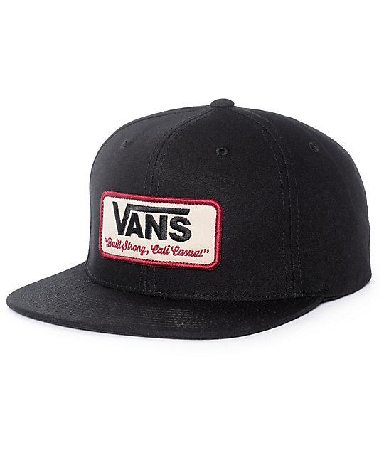 vans-rowley-black-snapback-hat by vans c798a7de394