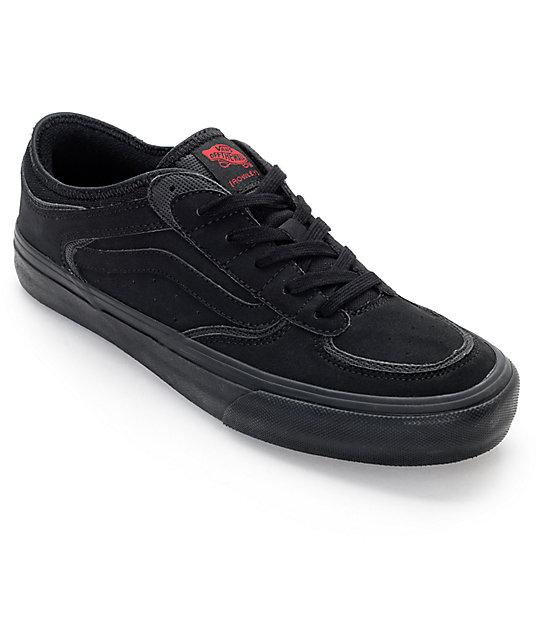 1ef18eae31 Vans Rowley Pro 50th Anniversary Black   Black Skate Shoes