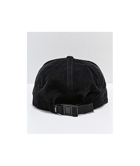 5dd8a885ed ... Vans Salton II Jockey Black Corduroy Strapback Hat
