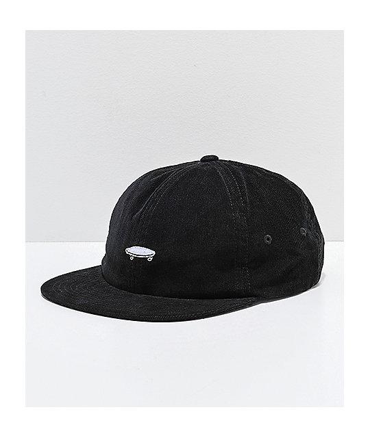 7e7f1db07cf Vans Salton II Jockey Black Corduroy Strapback Hat