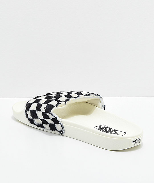 0fb485c719 ... Vans Sherpa Checkerboard Slide-On Sandals ...