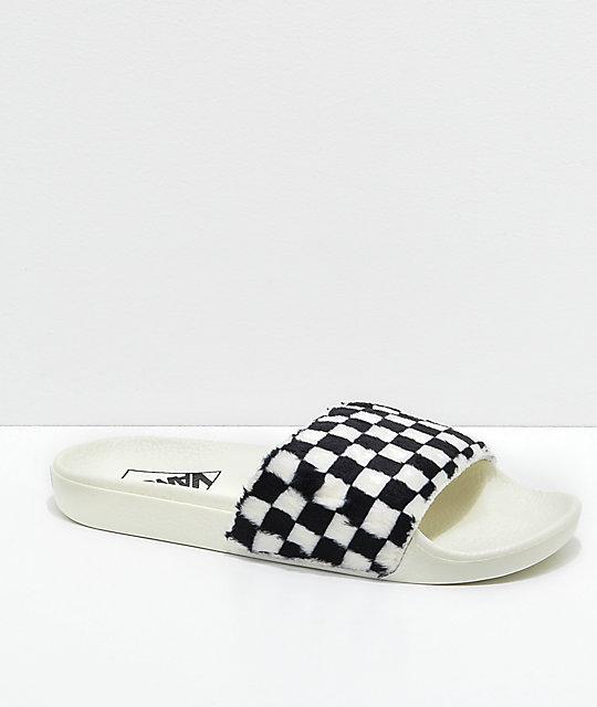 Get - slide on checkered vans - OFF 60