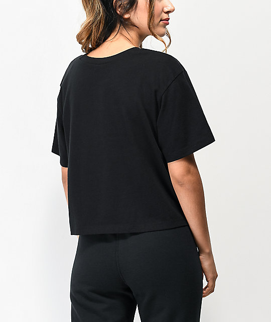 Vans Shine It Black Iridescent Crop T-Shirt