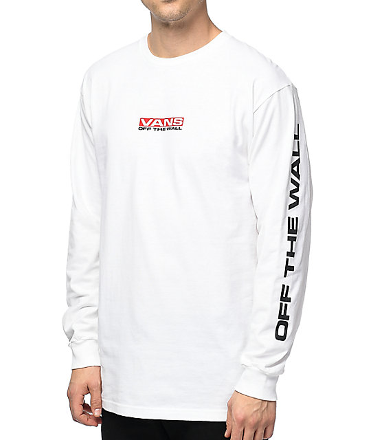 531d5afe Vans Side Waze Long Sleeve White T-Shirt