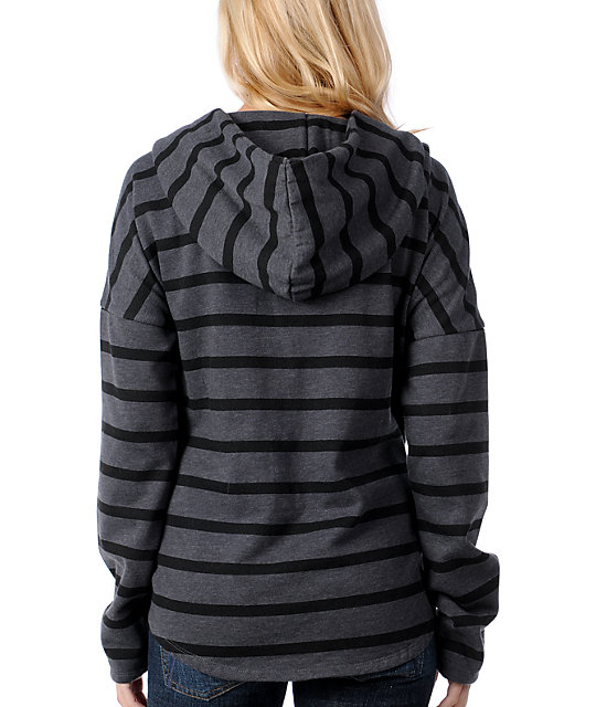Vans Silverado Black & Grey Stripe Hooded Poncho