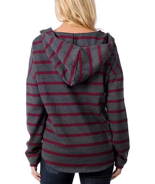 Vans Silverado Grey & Red Stripe Hooded Poncho