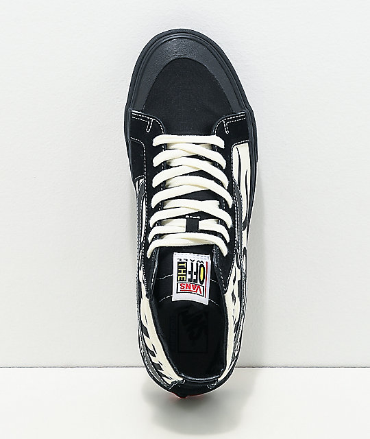 Vans Sk8-Hi 138 SF Tribal Black & Marshmallow Skate Shoes