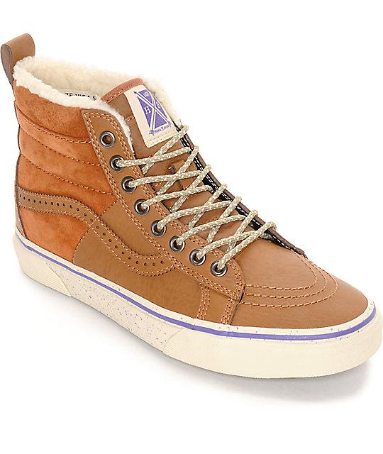 Zapatos beige Vans SK8-Hi para mujer UvyHwmSjy