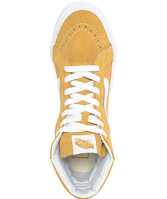 ... Vans Sk8-Hi Amber Gold Womens Skate Shoes ... 719824b907