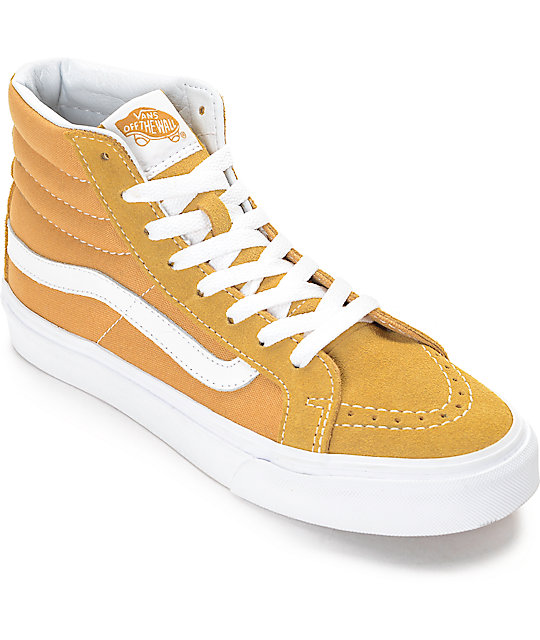 gold vans high top