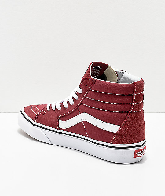 Vans Sk8-Hi Apple Butter zapatos de skate en rojo