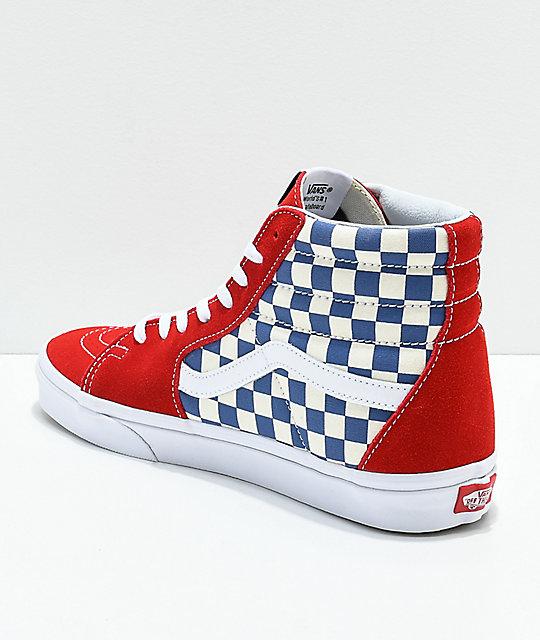 4367db588c5689 ... Vans Sk8-Hi BMX Checkerboard Blue