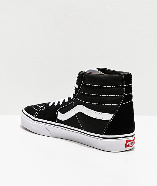 8e320f2103fe ... Vans Sk8-Hi Black   White Skate Shoes ...