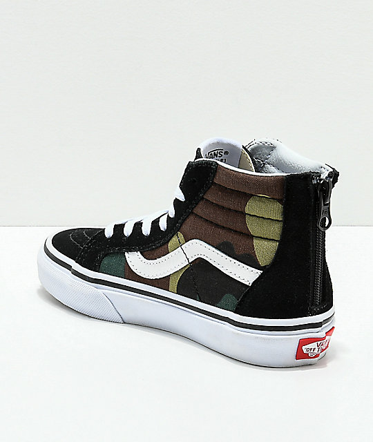 a91538d7e4 ... Vans Sk8-Hi Black   Woodland Camo   Black Shoes ...