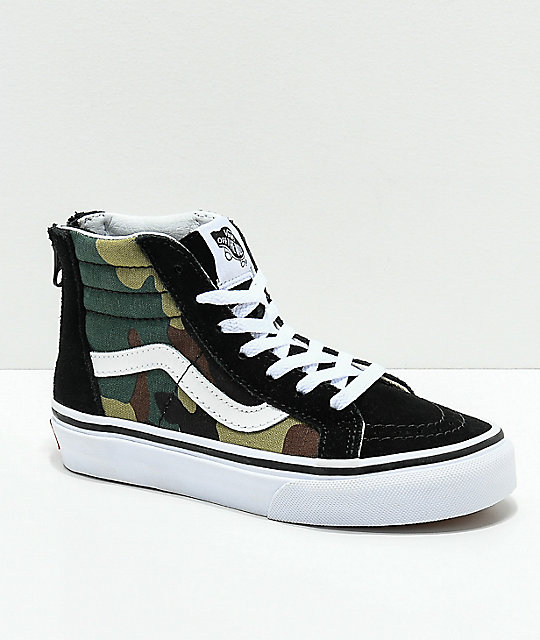 da890c6f44 Vans Sk8-Hi Black   Woodland Camo   Black Shoes