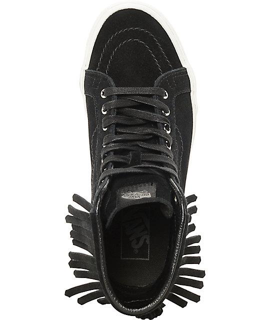 3e77023331 ... Vans Sk8-Hi Black Moc Shoes (Women s) ...
