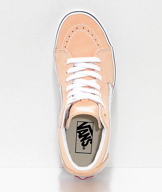 7e5ef89c5d ... Vans Sk8-Hi Bleached Apricot   White Shoes ...