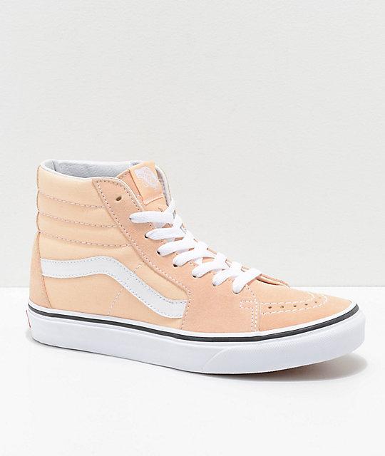 3ab0643a55 Vans Sk8-Hi Bleached Apricot   White Shoes