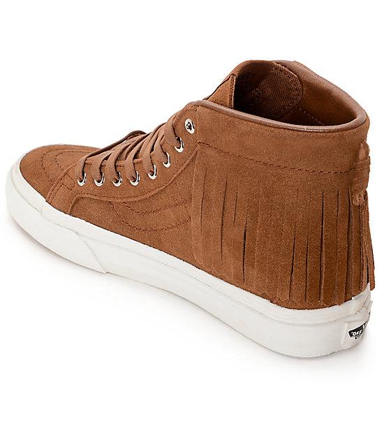83a16dc6d12 ... Vans Sk8-Hi Brown Moc Shoes (Women s) ...