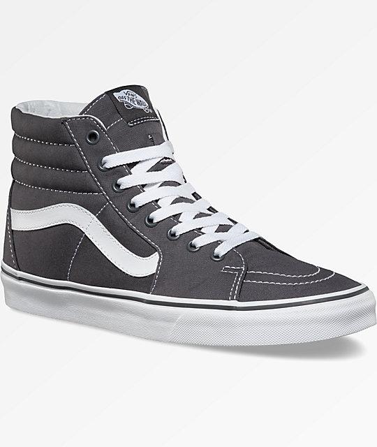 Vans Sk8-Hi Canvas Grey Shoes  310311bb6c2c