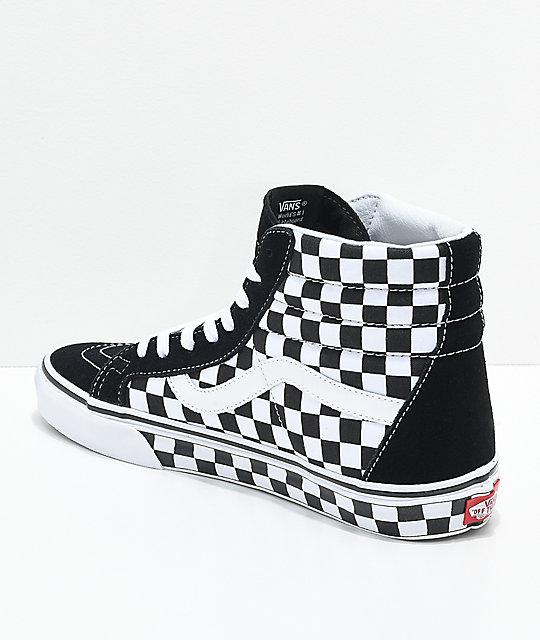 vans sk8 hi checkered