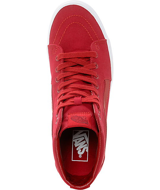 Vans Sk8-Hi Chili Red & White Skate Shoes