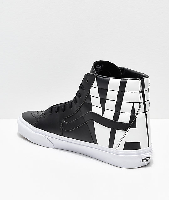 4aa0785219d ... Vans Sk8-Hi Classic Tumble Black Shoes ...