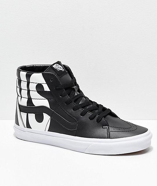 049ff70cf0b1 Vans Sk8-Hi Classic Tumble Black Shoes