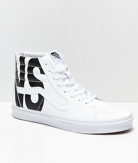 09a501a9b0 Vans Sk8-Hi Classic Tumble White Shoes